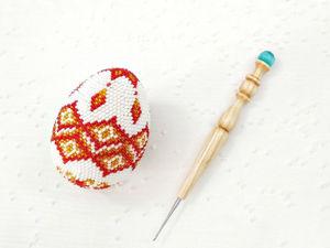 Вяжем крючком пасхальное яйцо из бисера. Ярмарка Мастеров - ручная работа, handmade.