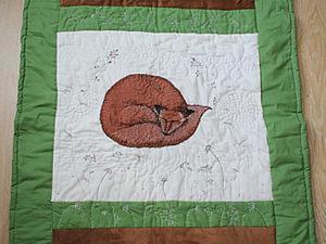 Одеяло «Спящий лис». Ярмарка Мастеров - ручная работа, handmade.
