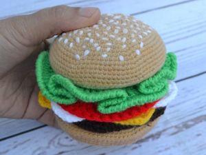 Мастер-класс по вязанию гамбургера. Ярмарка Мастеров - ручная работа, handmade.