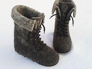 """Фото Мастер-класс """"Валяные ботинки"""". Ярмарка Мастеров - ручная работа, handmade."""