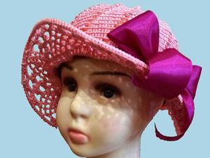 Вяжем шляпку с полями крючком. Ярмарка Мастеров - ручная работа, handmade.