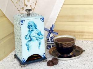 Декорируем домик для чая «Голландка». Ярмарка Мастеров - ручная работа, handmade.