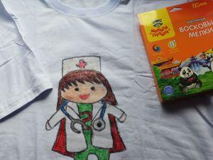 Делаем принт на футболке «Супер-врач». Ярмарка Мастеров - ручная работа, handmade.