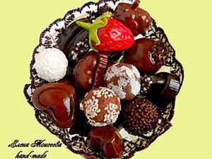 Делаем «шоколадные конфеты» из соленого теста и гипса. Ярмарка Мастеров - ручная работа, handmade.