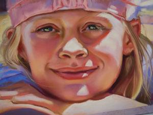 Портрет сухой пастелью  «Счастье есть». Ярмарка Мастеров - ручная работа, handmade.