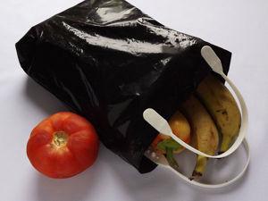 Я его слепила из того что было, или Как сделать сумочку для покупок из почтового пакета. Ярмарка Мастеров - ручная работа, handmade.
