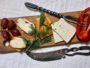Кованый сервировочный комплект для сыра. Авторская серия. Ярмарка Мастеров - ручная работа, handmade.