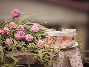 Создаем розу из фланели. Ярмарка Мастеров - ручная работа, handmade.