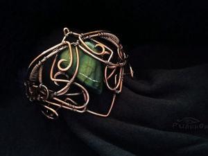 Создаем из меди браслет «Nevermore». Ярмарка Мастеров - ручная работа, handmade.