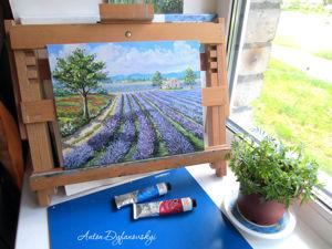 Картина  «Лавандовые поля». Ярмарка Мастеров - ручная работа, handmade.