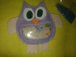 Делаем развивающую игрушку — искалку для малышей Совушка. Ярмарка Мастеров - ручная работа, handmade.