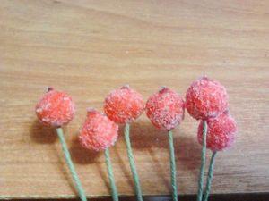 Как сделать «ягоды в сахаре» своими руками. Ярмарка Мастеров - ручная работа, handmade.