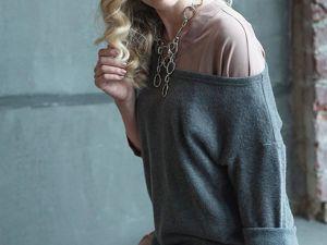 Платье рубашка и джемпер — это дуэт. Ярмарка Мастеров - ручная работа, handmade.