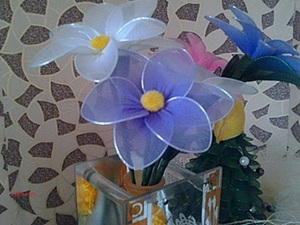 Цветок из капрона. Ярмарка Мастеров - ручная работа, handmade.