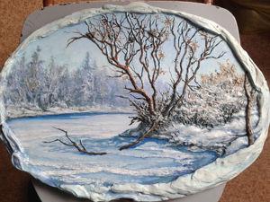 Делаем барельеф «Весенний пейзаж». Ярмарка Мастеров - ручная работа, handmade.