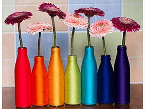 Весенние вазочки из бутылок!. Ярмарка Мастеров - ручная работа, handmade.