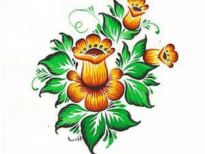 Роспись: Нолинский цветочек. Продолжение. Ярмарка Мастеров - ручная работа, handmade.