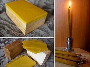 свечи из пчелинного воска с прополисом. Ярмарка Мастеров - ручная работа, handmade.