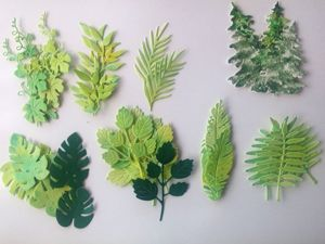 Creating Inexpensive Basis of Green Leaves for Work. Livemaster - handmade