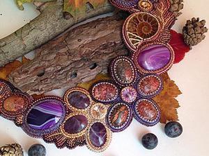"""Мастер-класс по изготовлению колье из бисера """"Forever Autumn"""". Ярмарка Мастеров - ручная работа, handmade."""