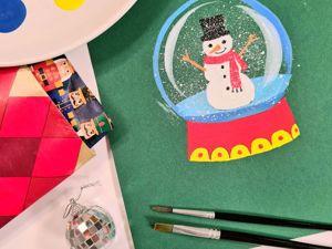 Рисование для детей: рисуем снежный шар. Ярмарка Мастеров - ручная работа, handmade.
