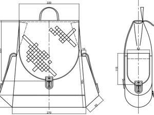 Шьем женский кожаный рюкзак. Часть 1. Проектирование. Ярмарка Мастеров - ручная работа, handmade.