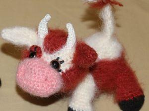 Игрушка  «Бычок — рыжий бочок»  крючком. Ярмарка Мастеров - ручная работа, handmade.