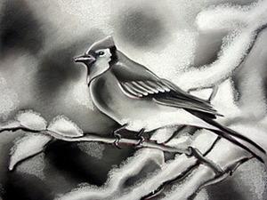 Черно-белая пастель: рисуем зиму. Ярмарка Мастеров - ручная работа, handmade.