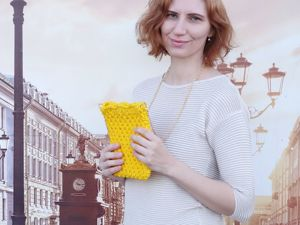 Солнечная мини-сумочка-авоська. Ярмарка Мастеров - ручная работа, handmade.