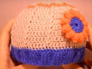 Вяжем пинетки и шапочку крючком. Часть 2: шапочка. Ярмарка Мастеров - ручная работа, handmade.
