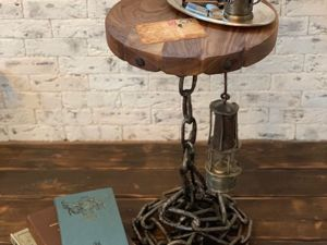 Мастерим оригинальный брутальный стол на цепи. Ярмарка Мастеров - ручная работа, handmade.