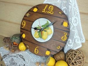 """Мастер-класс по декору часов """"Сочные лимоны"""". Ярмарка Мастеров - ручная работа, handmade."""