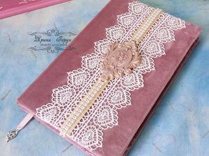 «Розовая нежность»   — видео  ежедневника. Ярмарка Мастеров - ручная работа, handmade.