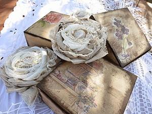 Коробочки для брошей. Ярмарка Мастеров - ручная работа, handmade.