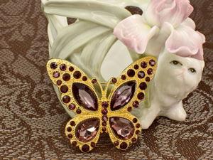 Чудесные винтажные бабочки, стрекозки и мушки на лето! Ч.2. Ярмарка Мастеров - ручная работа, handmade.