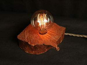Светильник из спила  «Кусочек солнца». Ярмарка Мастеров - ручная работа, handmade.