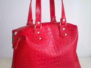 Многолотовый аукцион на кожанные сумки!!!. Ярмарка Мастеров - ручная работа, handmade.