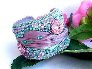 """Как сделать чудесный браслет """"Primavera"""" с шибори-лентой. Ярмарка Мастеров - ручная работа, handmade."""
