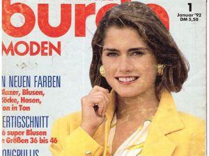 Burda Moden № 1/1992. Фото моделей. Ярмарка Мастеров - ручная работа, handmade.