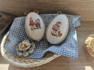 Мастер-класс по созданию пасхальных яиц с микровышивкой в технике кимекоми. Ярмарка Мастеров - ручная работа, handmade.