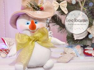Шьем текстильного снеговика — сувенир к Новому Году. Ярмарка Мастеров - ручная работа, handmade.