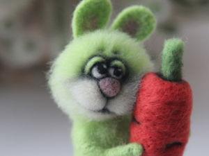 Аукцион с нуля на зайчика из шерсти!. Ярмарка Мастеров - ручная работа, handmade.