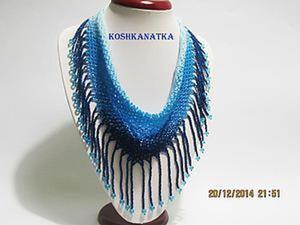 Плетем из бисера косынку «Зимний вечер». Ярмарка Мастеров - ручная работа, handmade.