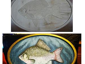 Роспись деревянной рыбы. Ярмарка Мастеров - ручная работа, handmade.