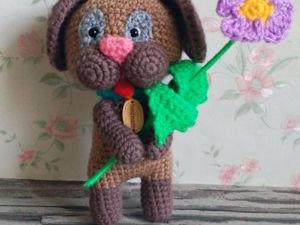 Авторский весенний щенок. Ярмарка Мастеров - ручная работа, handmade.