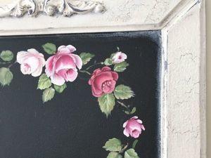 Расписываем акриловыми красками ключницу Roses. Ярмарка Мастеров - ручная работа, handmade.
