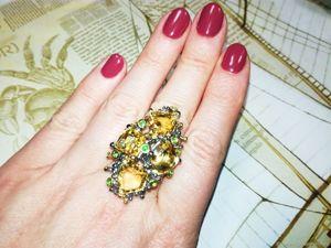 Спеццена на кольцо с цитринами!. Ярмарка Мастеров - ручная работа, handmade.