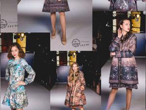 Модный показ, пальто и платье Сухоцвет. Ярмарка Мастеров - ручная работа, handmade.