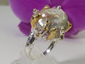 Эксклюзив ! Кольцо с барочным жемчугом  «Барокко» . Ярмарка Мастеров - ручная работа, handmade.