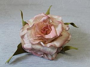 """Мастер-класс """"Классическая роза"""" из фоамирана. Ярмарка Мастеров - ручная работа, handmade."""